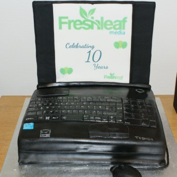 Freshleaf's 10th birthday - cake and snow