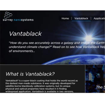 """Epic"" new Vantablack site goes live"